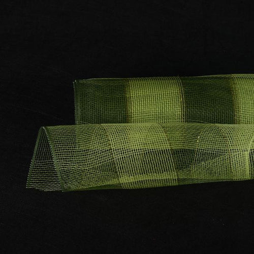 Spring Moss  - Christmas Mesh Wraps -  ( 10 Inch x 10 Yards )