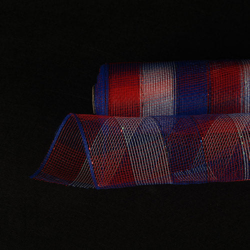 Flag  - Poly Deco Mesh Wrap with Laser Mono Stripe -  ( 21 Inch x 10 Yards )