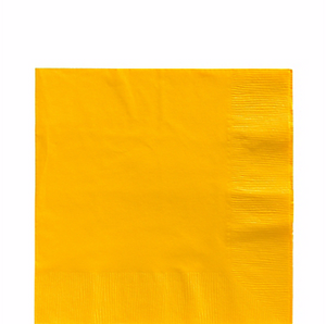 Yellow luncheon paper napkins 50pcs