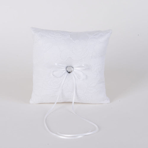Ring Bearer Pillow White ( 7 x 7 inches )