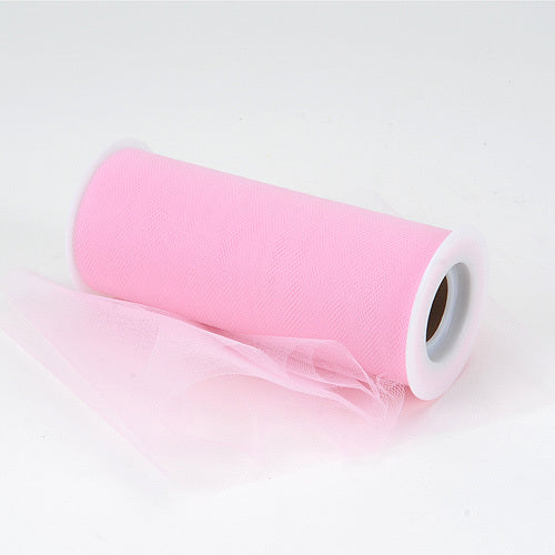 Pink - Premium Tulle Fabric ( 6 Inch | 25 Yards )