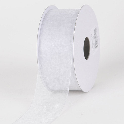 Silver - Sheer Organza Ribbon - ( 1-1/2 inch | 100 Yards )