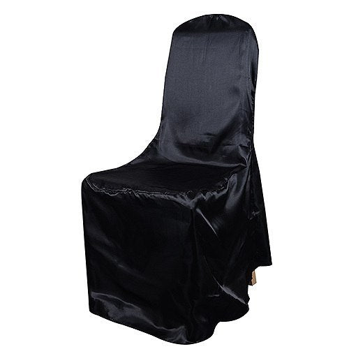 Black - Banquet Satin Chair Cover