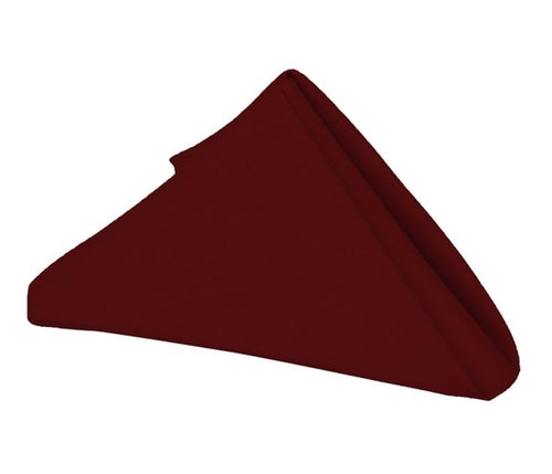 Burgundy - 17 x 17 Inch Polyester Napkins ( 5 Pieces )
