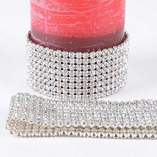 8 Rows x 3 Yards Artificial Rhinestone Diamond Wraps