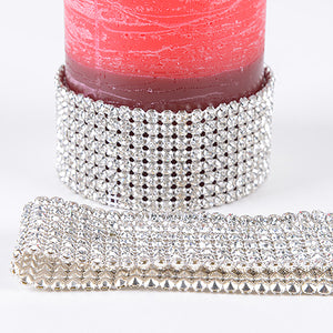 5 Rows x 3 Yards Artificial Rhinestone Diamond Wraps