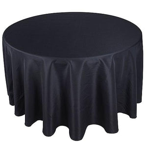 108 inch Black 108 Inch Round Tablecloths