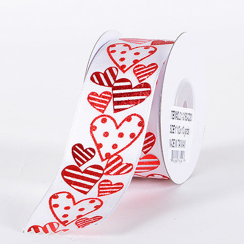 1-1/2 Inch x 10 Yards Red Valentine Ribbon