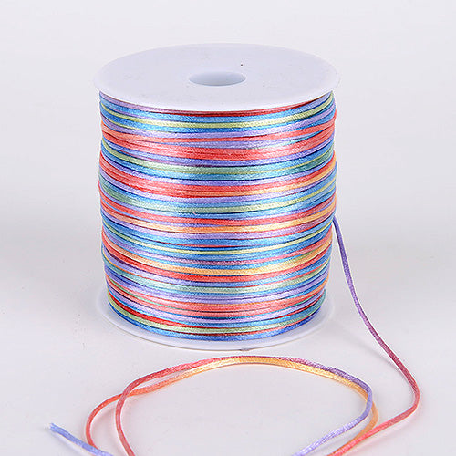 2mm Satin Rat Tail Cord Multi Color ( 2mm x 100 Yards )