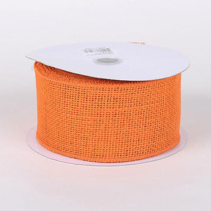 Orange - Burlap Ribbon - ( 2-1/2 inch | 10 Yards )