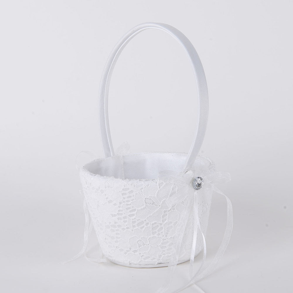 Flower Girl Baskets Ivory( 9 Inch )