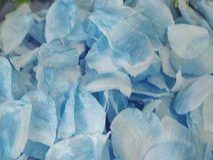 400 Petals Light Blue Silk Flower Petal