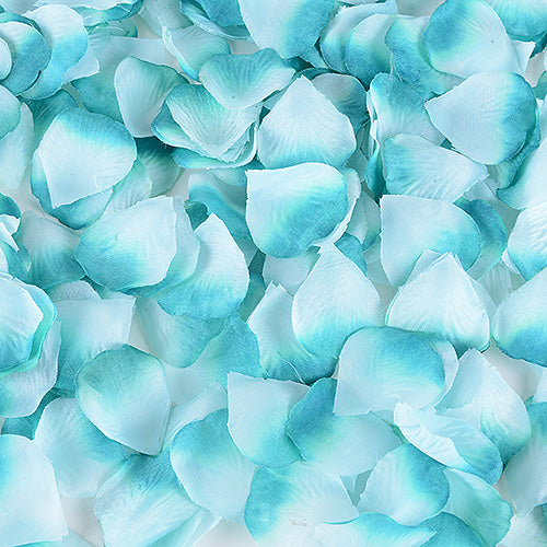 400 Petals Teal Silk Flower Petal