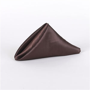 Chocolate - 20 x 20 Inch Satin Table Napkins ( 5 Pieces )