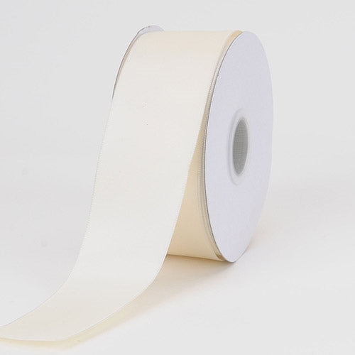 1-1/2 inch Ivory Satin Ribbon Wired Edge