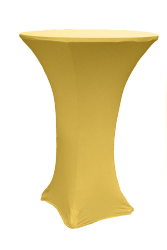 Gold Spandex Cocktail Tablecloths