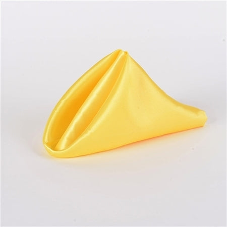 Yellow - 20 x 20 Inch Satin Table Napkins ( 5 Pieces )