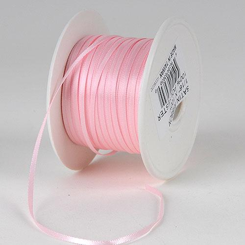 Light Pink -Satin Ribbon Single Face - ( 1/8 inch | 300 Yards )