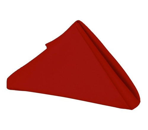 Red - 17 x 17 Polyester Napkins - ( 17 x 17 - 5 Pieces | 5 Napkins )