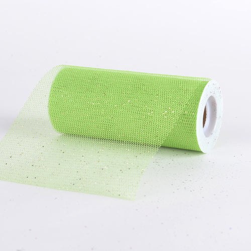 6 inch Apple Green Premium Glitter Net
