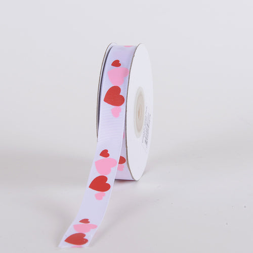 3/8 Inch x 25 Yards White Valentine Ribbon
