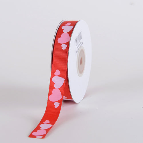 5/8 inch x 25 yards Red Valentine Ribbon