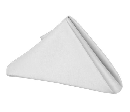 White - 17 x 17 Inch Polyester Napkins ( 5 Pieces )