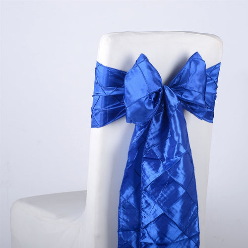 7 inch x 108 inch Royal Pintuck Satin Chair Sashes