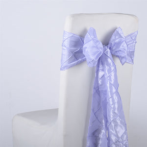 7 inch x 108 inch Lavender Pintuck Satin Chair Sashes