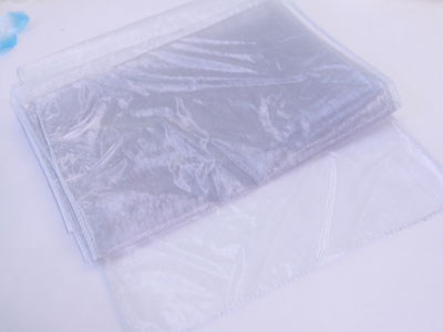 14 inch x 108 inches Silver Organza Table Runners
