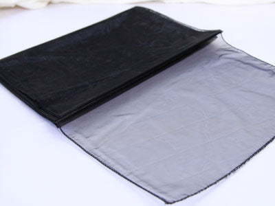 14 inch x 108 inches Black Organza Table Runners