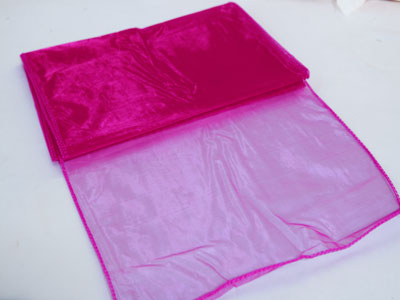 14 inch x 108 inches Fuchsia Organza Table Runners