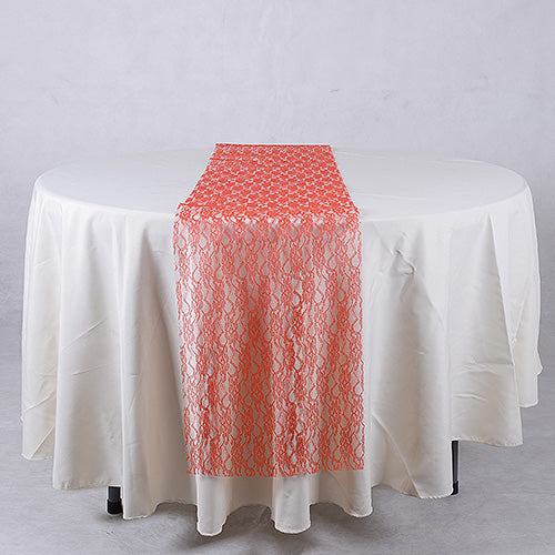 14 inch x 108 inches Red Lace Table Runners