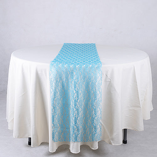 14 inch x 108 inches Turquoise Lace Table Runners