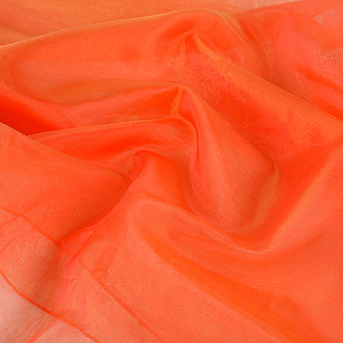 28 inch Red   Gold Two Tone Organza Overlays