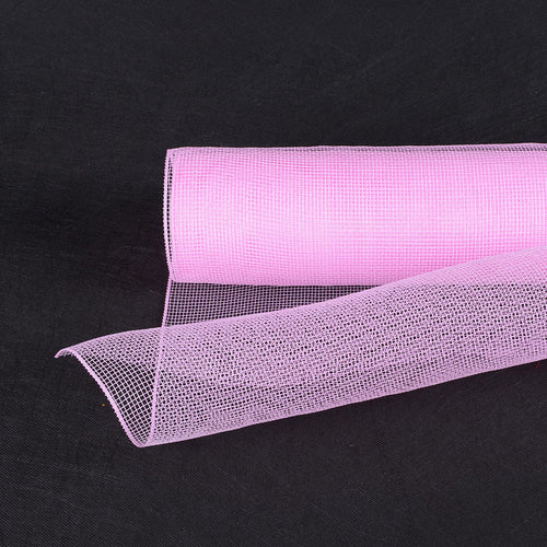 21 Inch x 10 Yards Light Pink Floral Mesh Wrap Solid Color