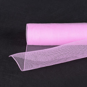 10 Inch x 10 Yards Light Pink Floral Mesh Wrap Solid Color