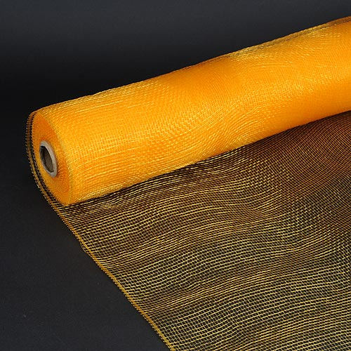 Light Gold - Floral Mesh Wrap Solid Color ( 21 Inch x 10 Yards )