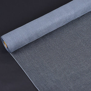 Silver - Floral Mesh Wrap Solid Color ( 21 Inch x 10 Yards )