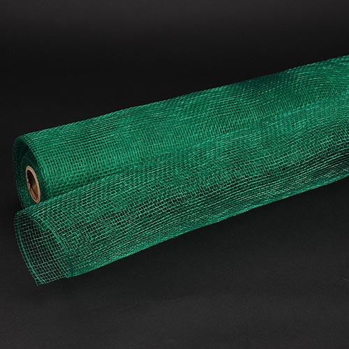 21 Inch x 10 Yards Emerald Floral Mesh Wrap Solid Color