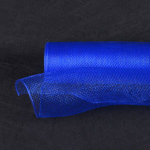 10 Inch x 10 Yards Royal Blue Floral Mesh Wrap Solid Color
