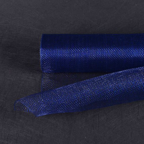 10 Inch x 10 Yards Navy Blue Floral Mesh Wrap Solid Color