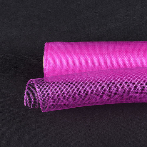 Fuchsia - Floral Mesh Wrap Solid Color ( 10 Inch x 10 Yards )