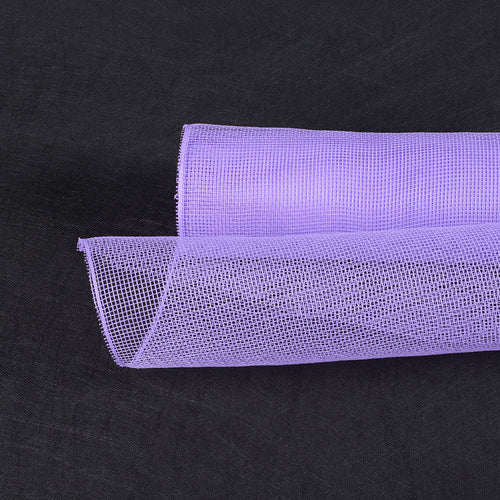 21 Inch x 10 Yards Lavender Floral Mesh Wrap Solid Color