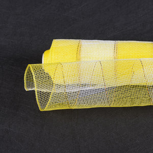 21 Inch x 10 Yards Yellow White Christmas Mesh Wraps