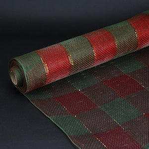 21 Inch x 10 Yards Hunter Christmas Mesh Wraps