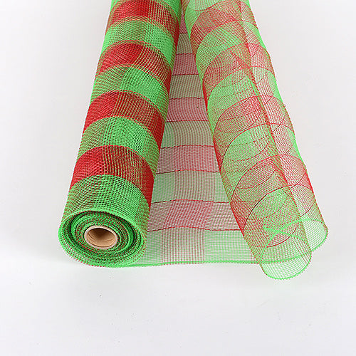 Green - Christmas Mesh Wraps ( 21 Inch x 10 Yards )