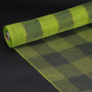 21 Inch x 10 Yards Spring Moss Christmas Mesh Wraps