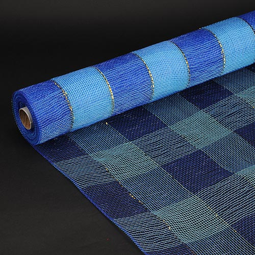 21 Inch x 10 Yards Royal Blue Christmas Mesh Wraps