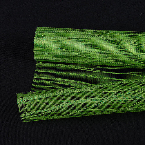 21 Inch x 6 Yards Apple Green Metallic Twine Mesh Wrap
